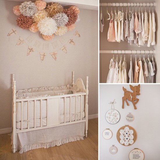 Peach And Gray Baby Girl Nursery Popsugar Moms