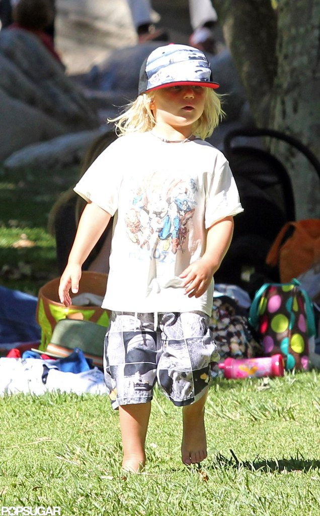 Zuma Rossdale sported a tee from Junk Food as he hung out in LA with his family.