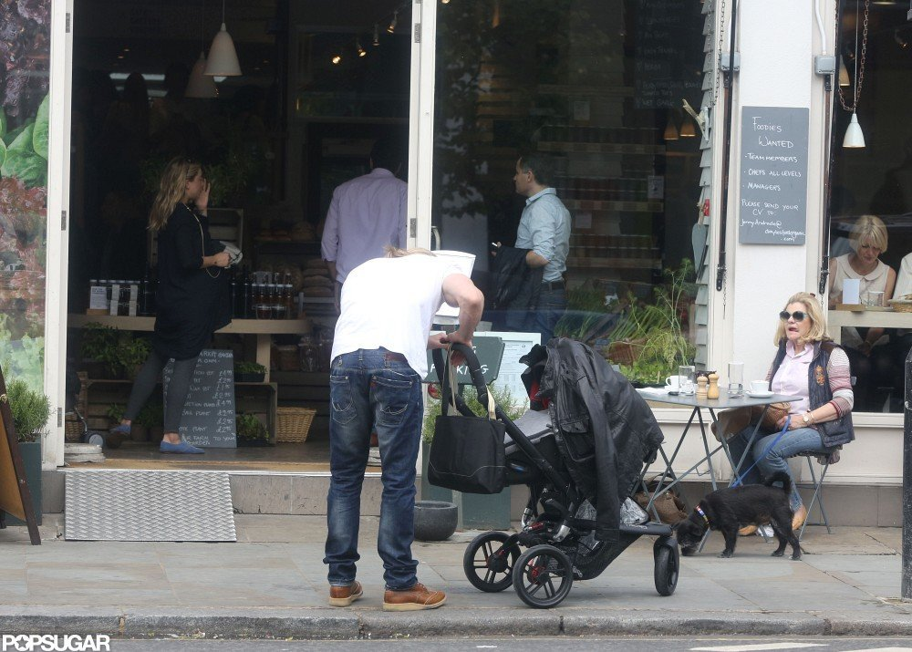 Chris Hemsworth doted over baby India in London.