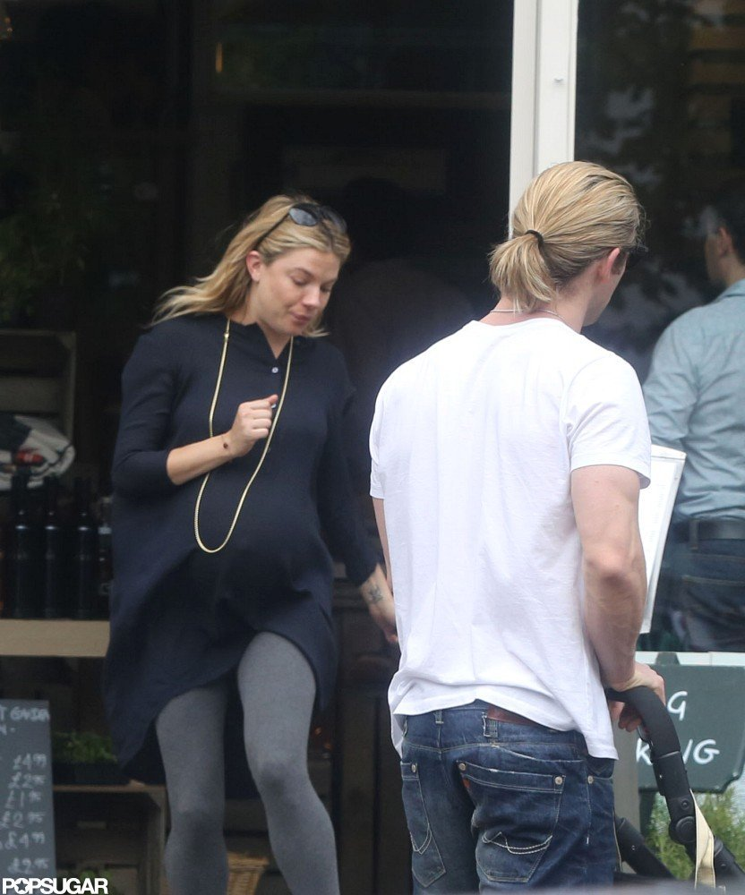 Sienna Miller ran into Chris Hemsworth in London.