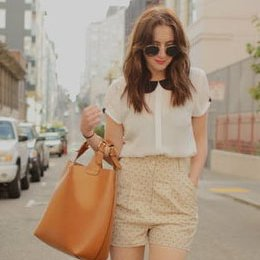 Polka Dot Shorts Street Style