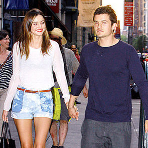 Miranda Kerr and Orlando Bloom Holding Hands Pictures in NYC