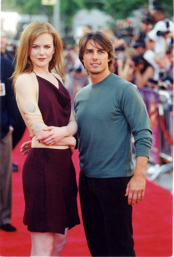 Tom Cruise stepped onto the red carpet with Nicole Kidman for their Eyes Wide Shut premiere in LA in September 1999.