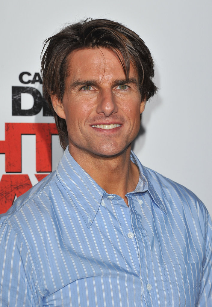 Tom Cruise's blue shirt brought out his blue eyes at the premiere of Knight and Day in July 2010.