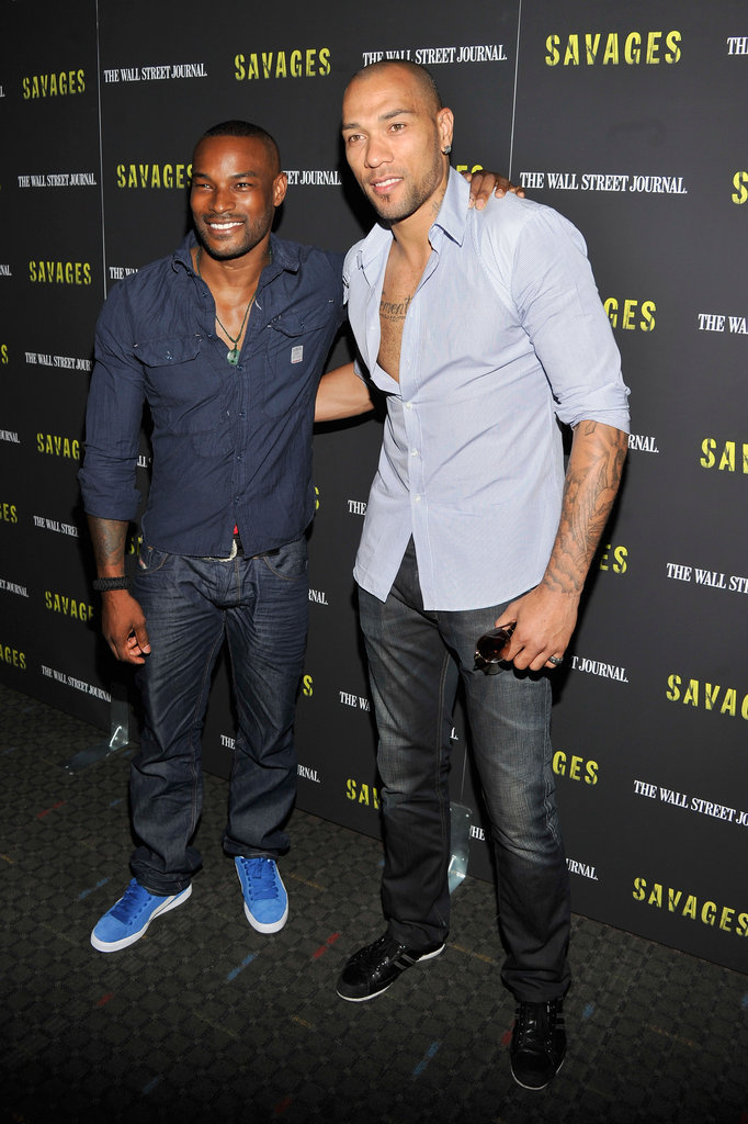 Tyson Beckford and John Carew