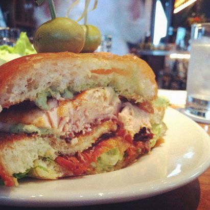Wayfare Tavern Salmon Sandwich