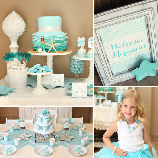 A Mermaid Birthday Party Fit For an Underwater Princess
