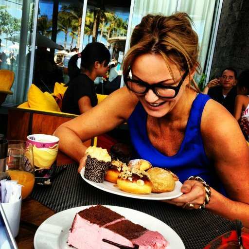 Charlotte Dawson was spoilt for choice with baked goods! Source: Twitter user MsCharlotteD