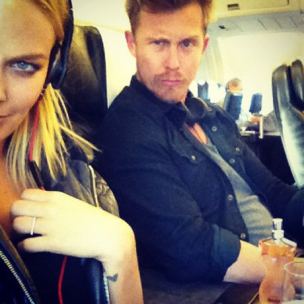 Lara Bingle and Max May returned from a trip to New Zealand. Source: Instagram user mslarabingle
