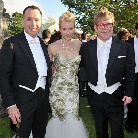 Elton John 2012 White Tie and Tiara Ball Celebrity Pictures