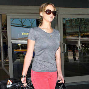 Jennifer Lawrence Wearing Red Jeans Pictures