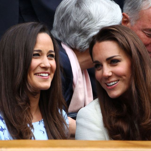 Kate and Pippa Middleton Join Victoria and David Beckham at Wimbledon