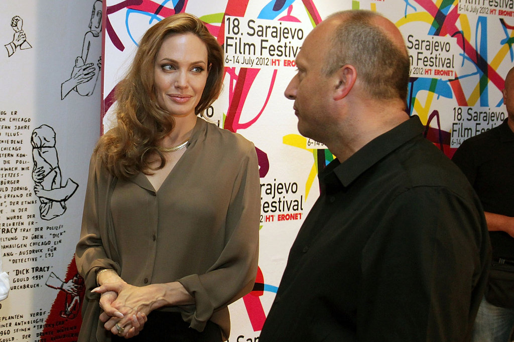 Angelina Jolie Talks Brad Pitt at the Sarajevo Film Festival