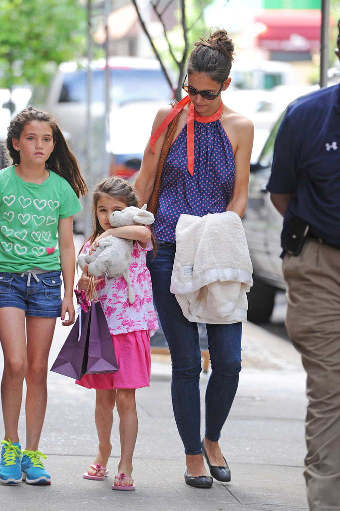 Katie Holmes and Suri were out and about in New York on July 5.