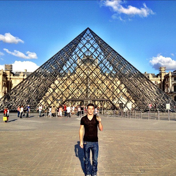 Colton Haynes shared a cool shot from Paris. Source: Instagram User coltonhaynes