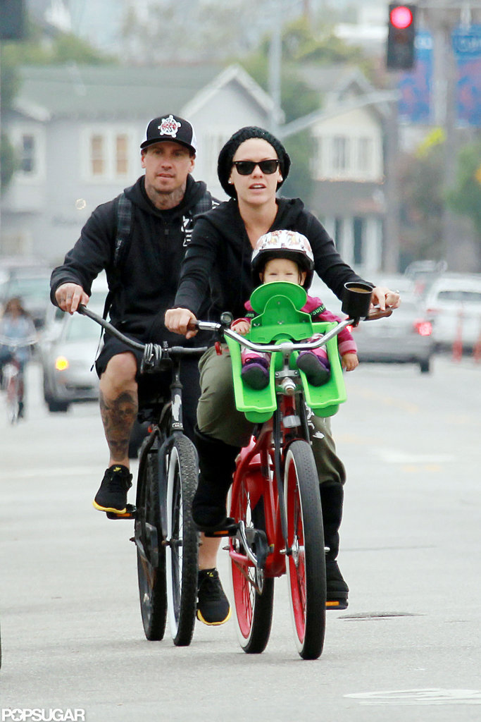 Pink and Carey Hart took their daughter on a bike ride.