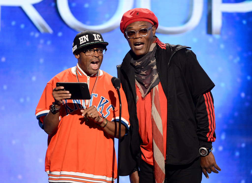 Spike Lee and Samuel L. Jackson shared the stage at the BET Awards in LA.