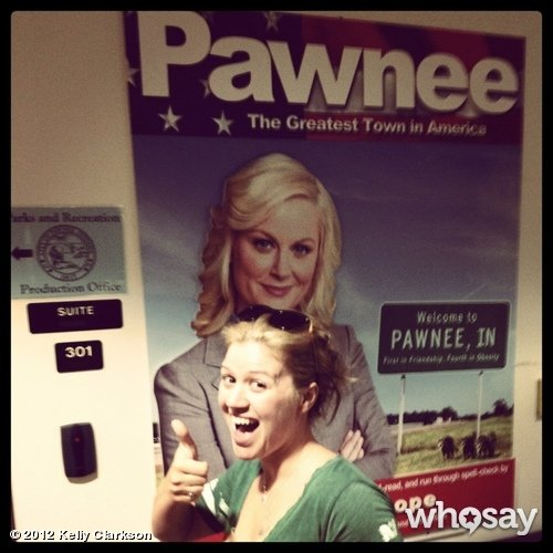 Kelly Clarkson showed that she's a fan of Parks and Recreation. Source: Kelly Clarkson on WhoSay
