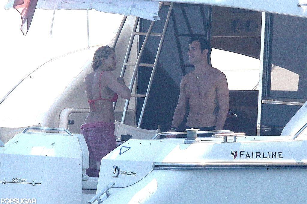 Jennifer Aniston Flaunts Bikini Body and Shows PDA With Shirtless Justin