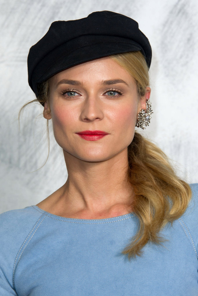 Diane Kruger gave a smile at the Chanel photo call in Paris.