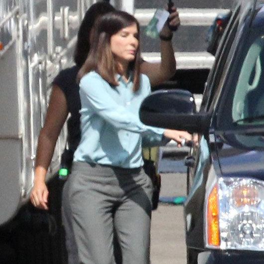 Sandra Bullock on Set of The Heat