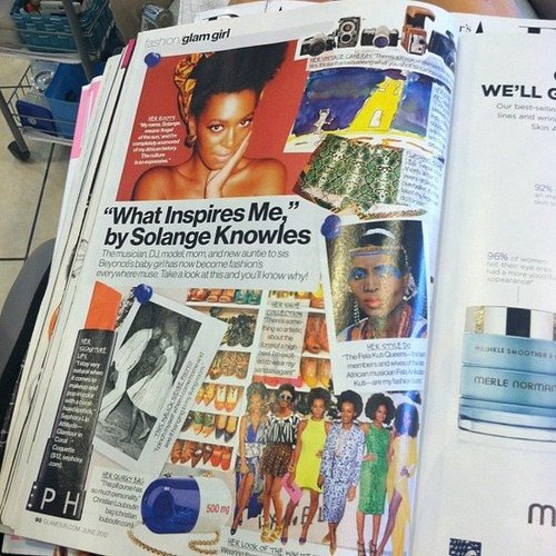 Celebstyle snapped a pic of Solange Knowles in the June issue of Glamour.