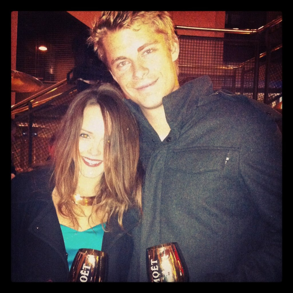 And cute couple Rebecca Breeds and Luke Mitchell...