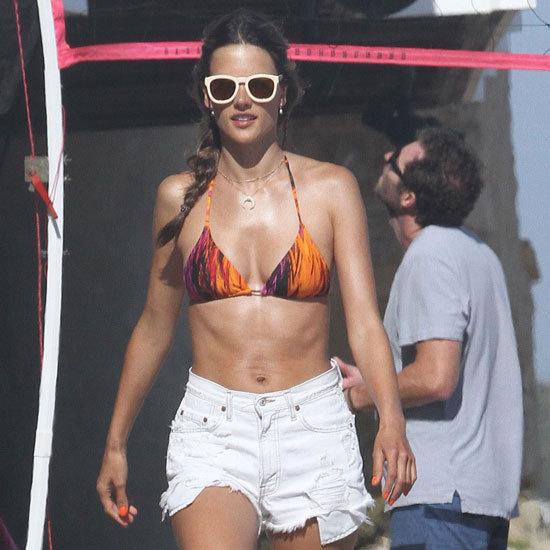 Alessanda Ambrosio Wearing Tie-Dye Bikini