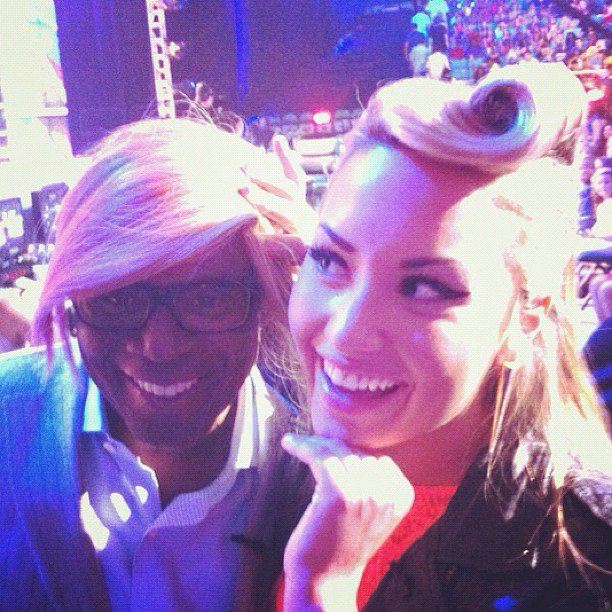 Demi Lovato and LA Reid got together for a photo that The X Factor shared. Source: Instagram user thexfactorusa