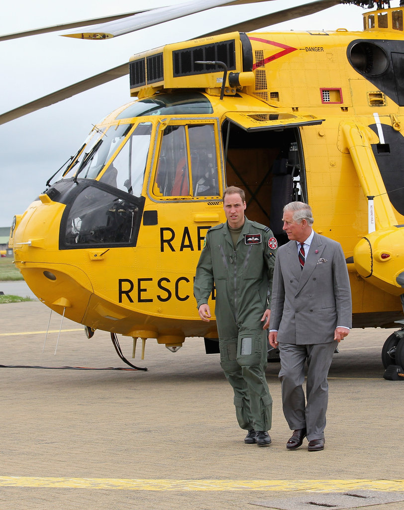Prince William escorted his dad around the base.