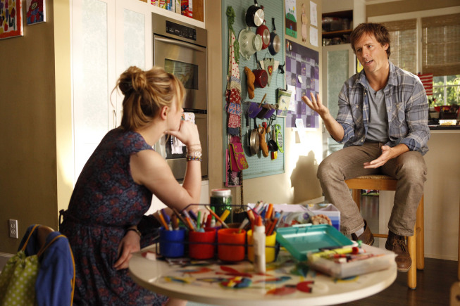 Nat Faxon and Dakota Johnson on Ben and Kate.