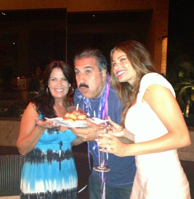 Sofia Vergara wore a diamond ring during a celebration with friends. Twitter user FernandoFiore
