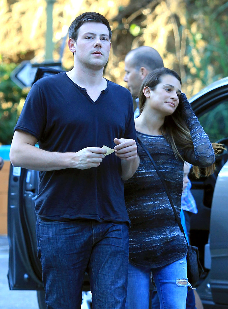 Cory Monteith and Lea Michele were together.