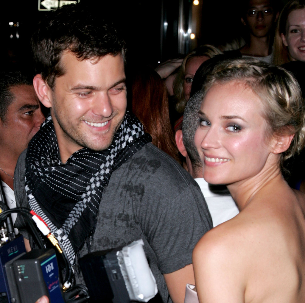 Joshua Jackson admired Diane Kruger during New York Fashion Week in September 2007.