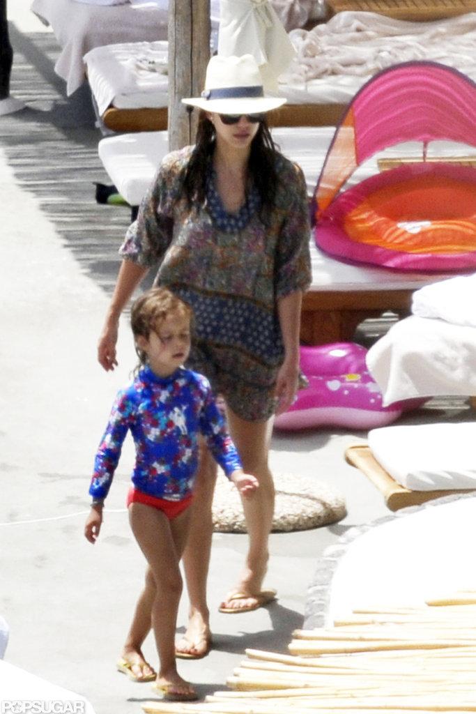 Jessica Alba Puts Her Bikini Body on Display During Pool Time in Italy