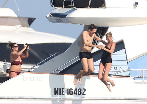 Kate Moss and Jamie Hince jumped into the Mediterranean during their July 2012 vacation in the South of France.