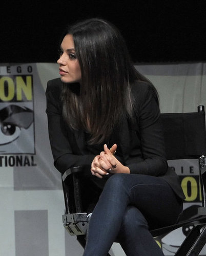 Mila Kunis was interested in the discussion about Oz: The Great and Powerful at Comic-Con.