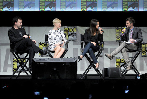 Sam Raimi, Michelle Williams, and Mila Kunis took the stage with Chris Hardwick to chat bout Oz: The Great and Powerful at Comic-Con.