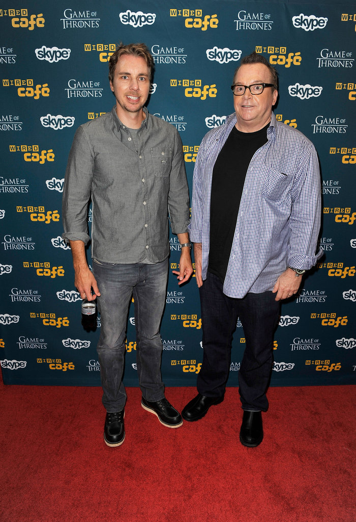 Dax Shepard and Tom Arnold stopped by the Wired Cafe during Comic-Con.
