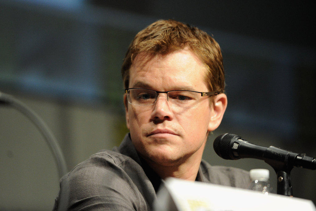 Matt Damon spoke during Sony's Eylsium panel during Comic-Con at San Diego.