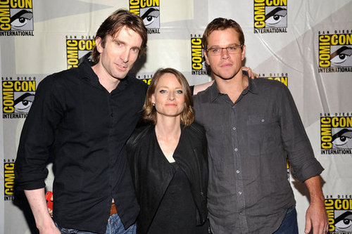 Sharlto Copley, Jodie Foster and Matt Damon at Sony Pictures Panels during Comic-Con.