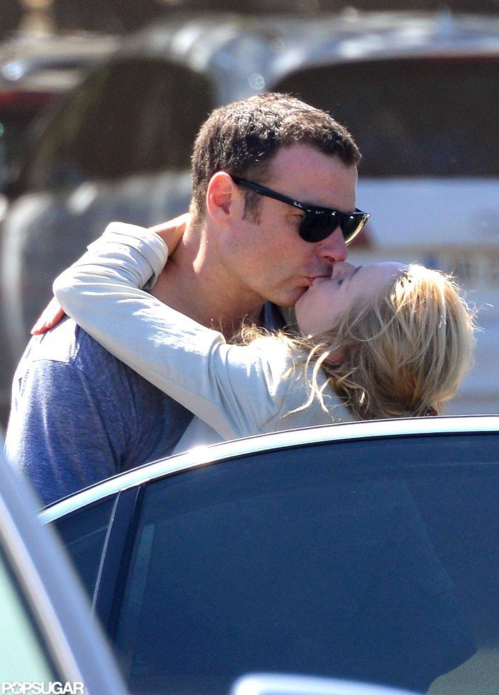 Naomi Watts and Liev Schreiber were spotted sharing a kiss in July 2012 while vacationing in the South of France.