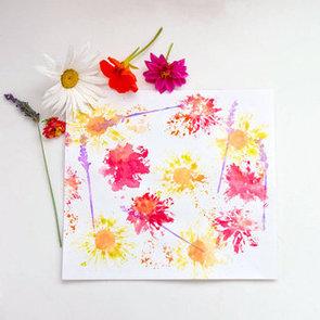 Flower Print Kids Craft