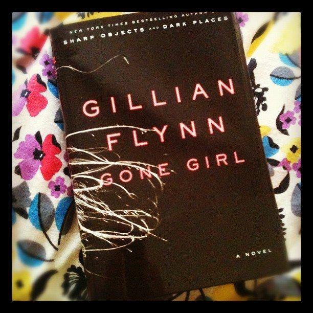 "Brittsteps picked up Gillian Flynn's Gone Girl. She writes, ""Wild Saturday night!"""