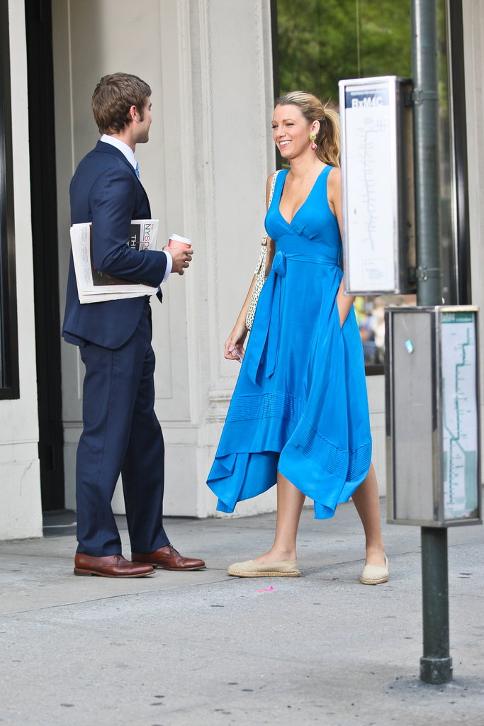 Blake Lively and Chace Crawford filmed a Gossip Girl scene in NYC.