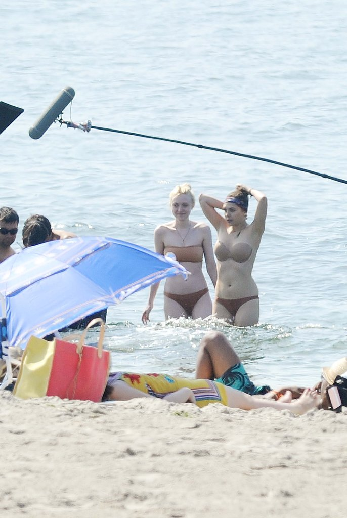 Dakota Fanning and Elizabeth Olsen filmed Very Good Girls in two-piece swimsuits.
