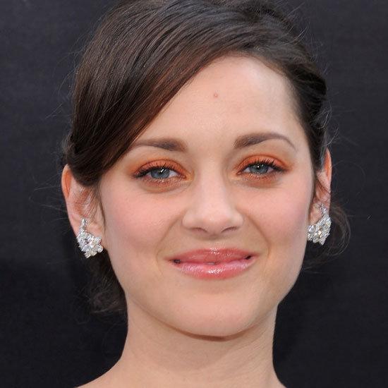 Marion Cotillard Wears Orange Eyeshadow at the #DarkKnight Premiere
