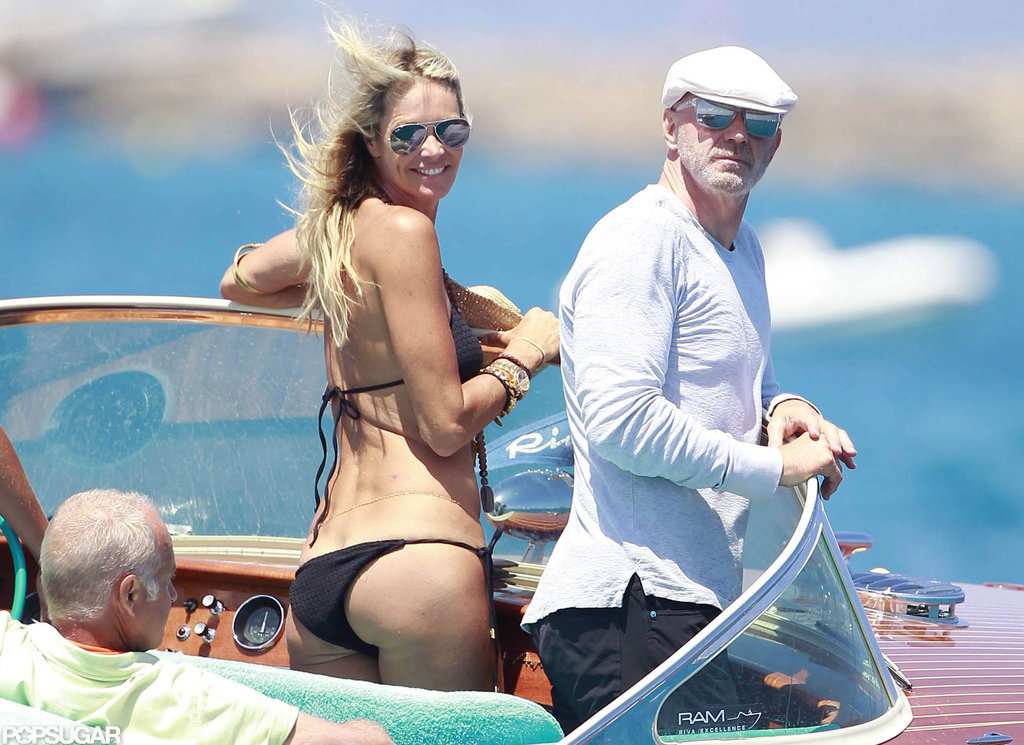 Elle Macpherson went boating around Spain with then-boyfriend Roger Jenkins in July 2012.