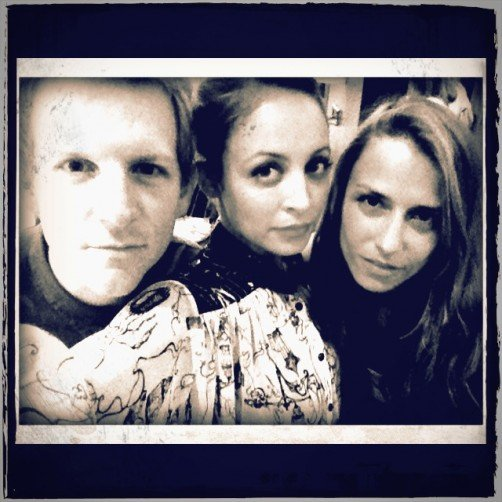Nicole Richie posed with her longtime friend Charlotte Ronson and her brother-in-law, Josh Madden, at her Macy's in-store event. Source: Twitter user nicolerichie