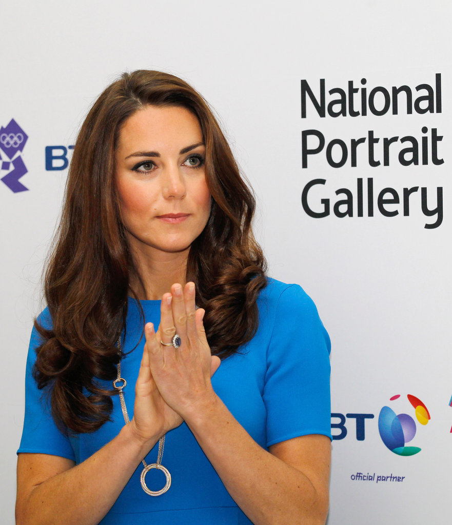 Kate wore an Olympic-ring-inspired necklace at the outing.